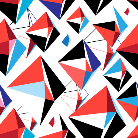 Illustration for Vector abstract multicolored geometric pattern - Royalty Free Image
