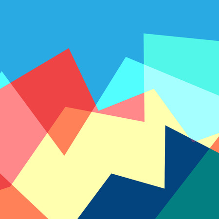 Illustration for Abstract geometric multicolored illustration - Royalty Free Image
