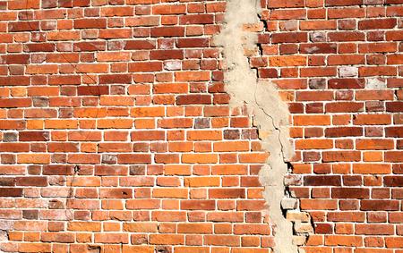 Foto de Photo background old with crack brick texture - Imagen libre de derechos