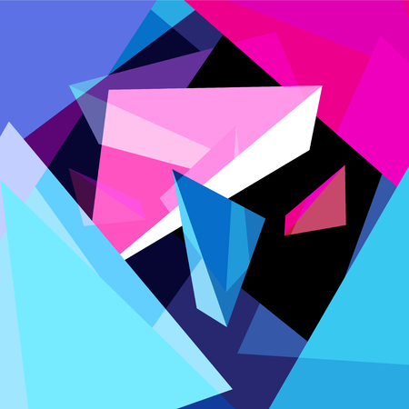 Illustration for Abstract multicolored geometric trendy background with different elements - Royalty Free Image