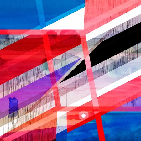 Photo pour Abstract multicolored geometric trendy background - image libre de droit