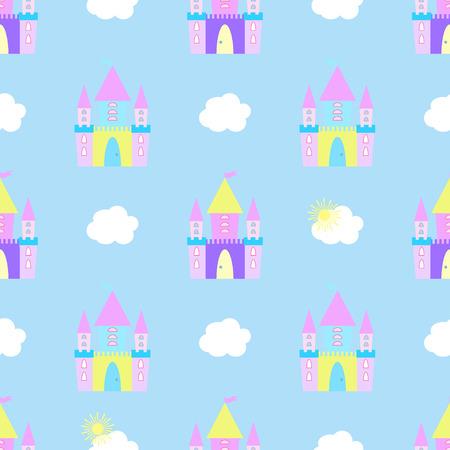 Ilustración de Fairytale castle - Imagen libre de derechos