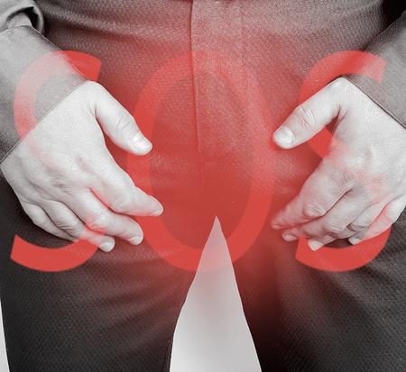 Photo pour male symptom prostatitis - image libre de droit