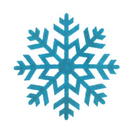 Foto de The toy the snowflake isolated on white background. - Imagen libre de derechos