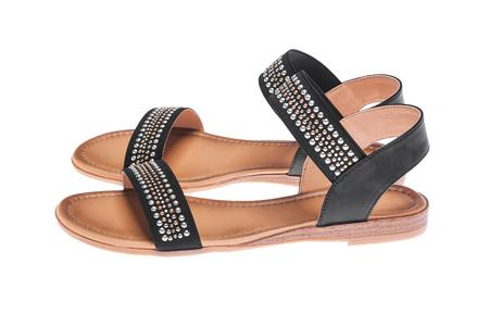 Foto de Black female sandals. - Imagen libre de derechos