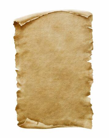 Foto de Old paper manuscript or papyrus scroll vertically oriented - Imagen libre de derechos