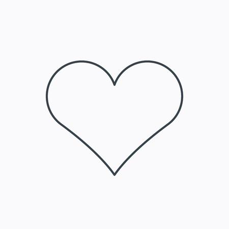 Illustration pour Heart icon. Love sign. Life symbol. Linear outline icon on white background. Vector - image libre de droit