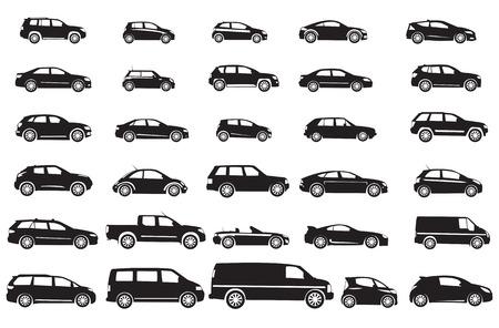 Illustration pour A set of different car - image libre de droit