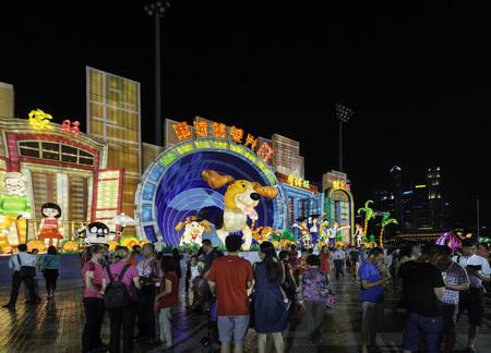 Photo for River Hongbao, Chinese New Year Lantern Festival at Marina Bay, Singapore - Royalty Free Image
