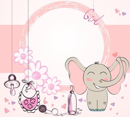 Illustration pour vector Baby Frame - image libre de droit