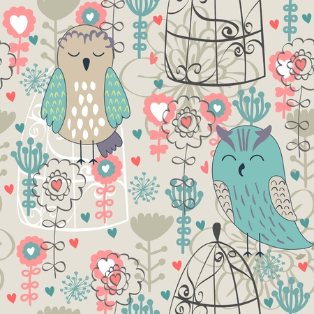 Illustration for Vector seamless pattern - Royalty Free Image