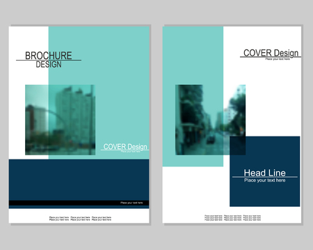 Illustration for Brochure cover design on white background, vector illustration. - Royalty Free Image
