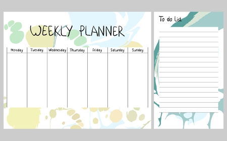 Illustration pour Abstract weekly planner - image libre de droit