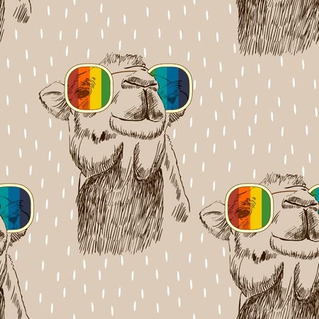 Illustration pour Vector retro camel - image libre de droit