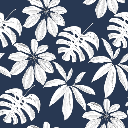 Illustration pour Tropical seamless pattern - image libre de droit