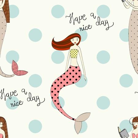 Ilustración de Vector cute mermaid - Imagen libre de derechos