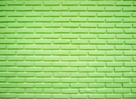 Photo pour Green brick wall, used for background image. - image libre de droit