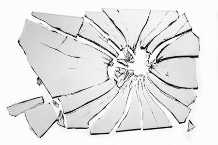 Foto de broken glass isolated on white background - Imagen libre de derechos