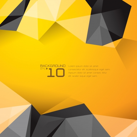 Illustrazione per Polygonal design - Abstract geometrical background   - Immagini Royalty Free