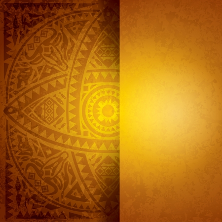 Illustration for African art background for cover design  - Royalty Free Image