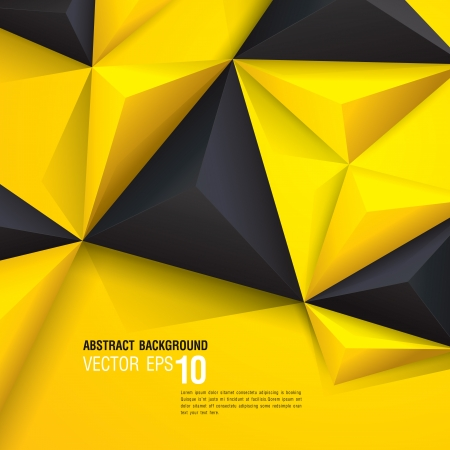 Illustration pour Black and yellow geometric background  - image libre de droit