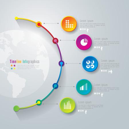 Illustration pour Timeline infographics design template - image libre de droit