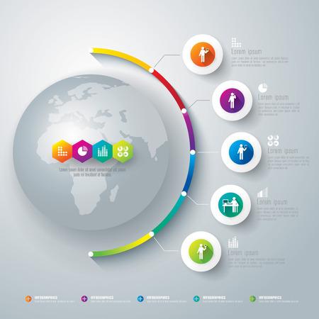 Ilustración de Infographics vector design template  - Imagen libre de derechos