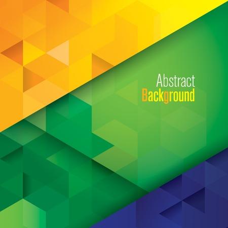 Illustration pour Geometry Brazil color vector  - image libre de droit