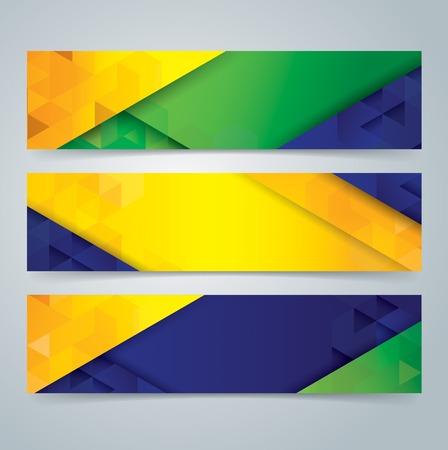 Ilustración de Collection banner design  - Imagen libre de derechos