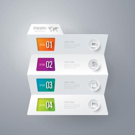 Ilustración de Infographics vector design template. - Imagen libre de derechos