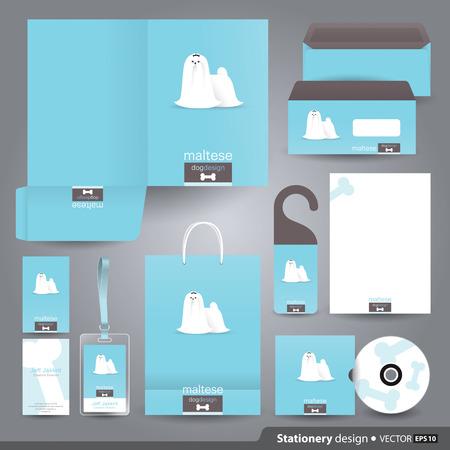 Foto de Stationery set design / Corporate identity design. - Imagen libre de derechos