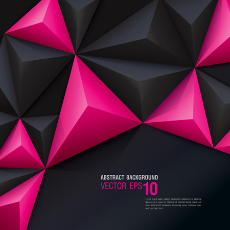 Ilustración de Pink and black vector geometric background. - Imagen libre de derechos
