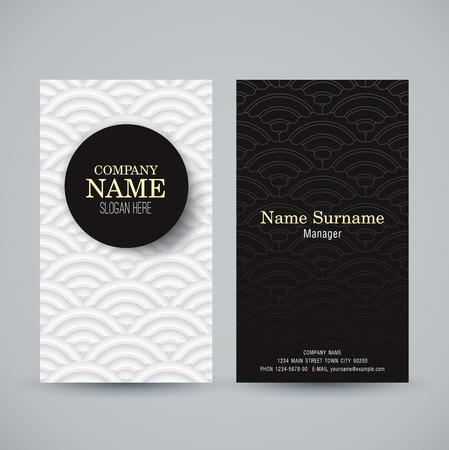 Ilustración de Business card template. Name card abstract background.  - Imagen libre de derechos
