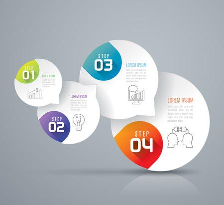 Illustration pour Infographics vector design template. - image libre de droit