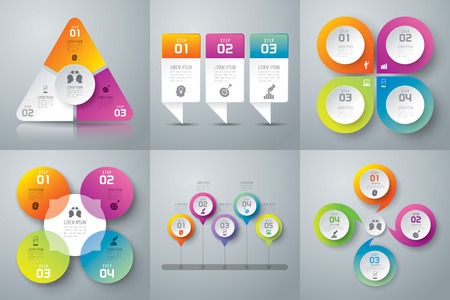 Illustration for Infographics vector design template. - Royalty Free Image