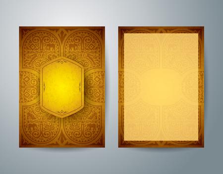 Illustration pour African art brochure flyer design vector template. - image libre de droit