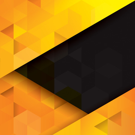 Illustration pour Yellow and black abstract background vector. - image libre de droit