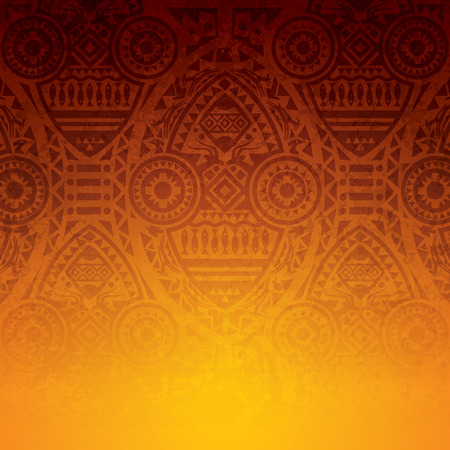 Illustration for African art background design. - Royalty Free Image