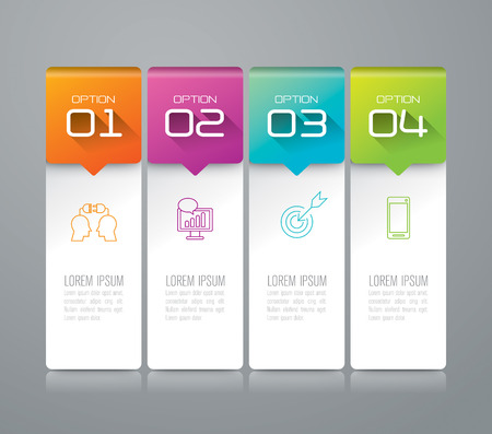 Illustration pour Infographic design template and marketing icons. - image libre de droit