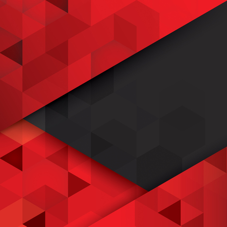 Illustration pour Red and black abstract background vector. - image libre de droit