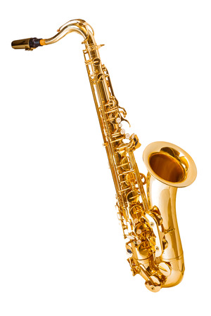 Photo for saxophone isolated on white - Royalty Free Image