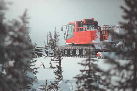 Photo for snowcat in mountains - Royalty Free Image