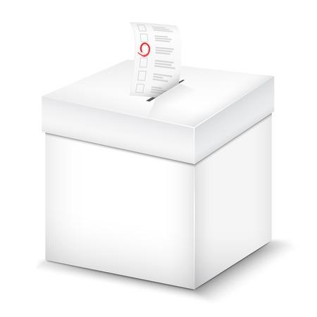 Illustration pour Ballot Box Isolated On White. Vector Illustration. - image libre de droit