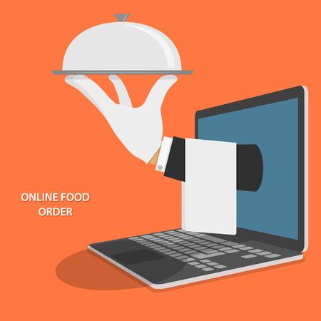 Illustration pour Online Food Delivery Concept Illustration. - image libre de droit