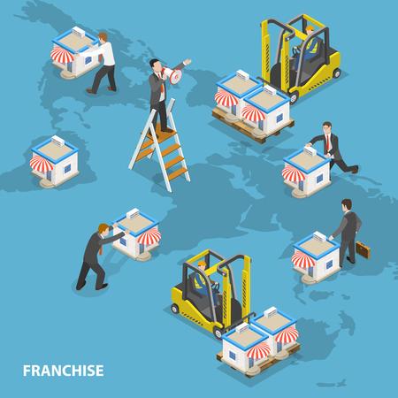 Ilustración de Franchise concept - Imagen libre de derechos