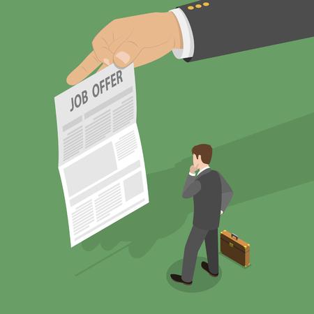 Illustration pour Job offer concept - image libre de droit