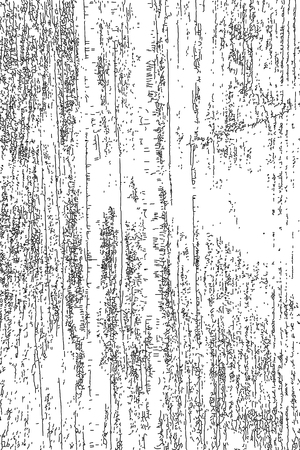 Ilustración de Distressed halftone grunge texture, old wood scratch background. Black and white vector illustration for dust overlay, creation abstract vintage effect with noise and grain. - Imagen libre de derechos