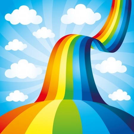 Illustration pour Rainbow background  - image libre de droit