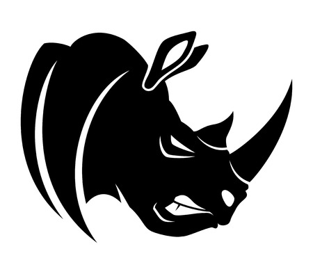 Illustrazione per Rhinoceros. - Immagini Royalty Free