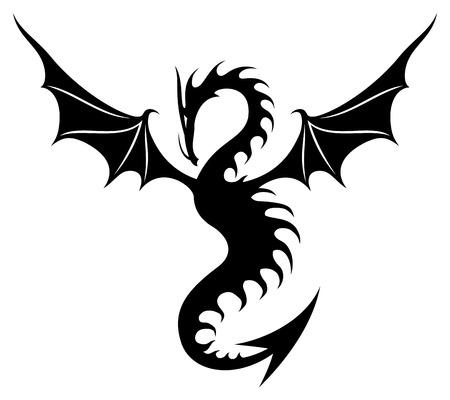 Ilustración de Dragon sign. - Imagen libre de derechos